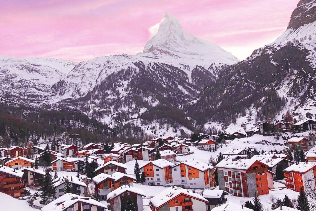 Zermatt ve muhteşem manzarası