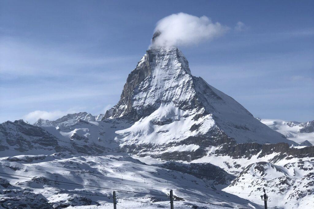 Zermatt Toblerone Dağı The Matterhorn