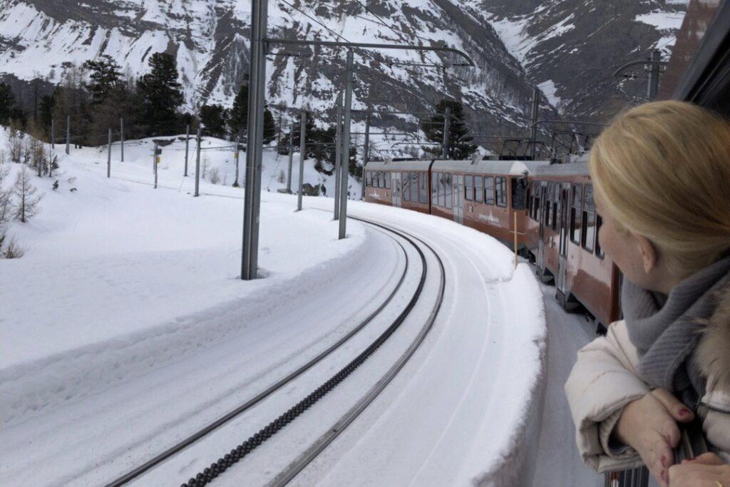 Zermatt'ın ünlü treni Gornergrat