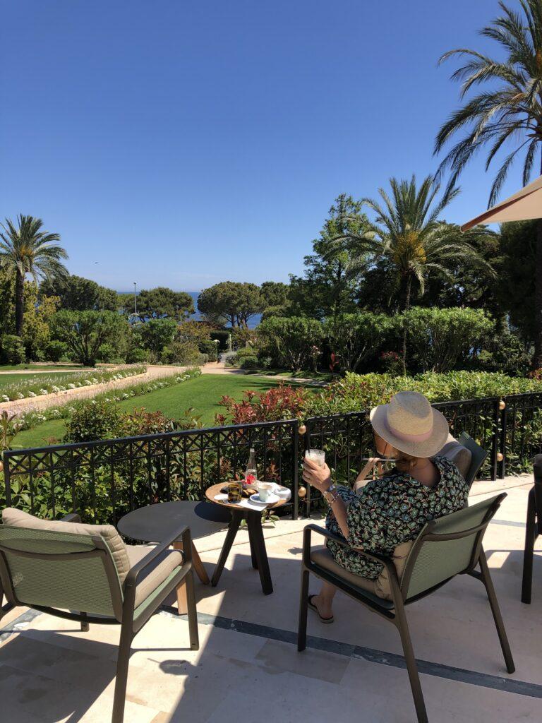 Grand Hotel du Cap Ferrat'ın bahçesi